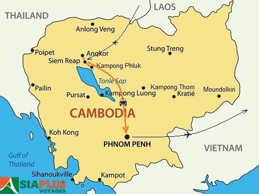 2016_TOURMAP-CAMBODGE-Saveurs-du-Cambodge-7-jours Voyage Cambodge 1 semaine
