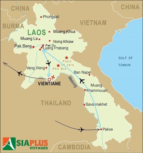 Circuit au Laos 2016_TOURMAP-LAOS-Charmes-du-Laos-7-jours