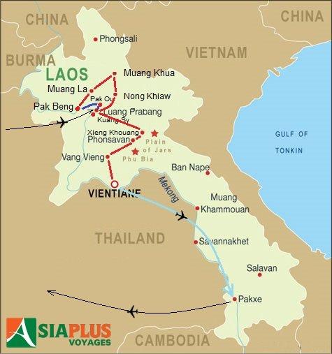 Voyages Laos 2016_TOURMAP-LAOS-Laos-complet-20-jours