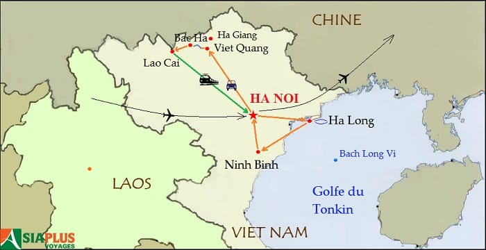 Carte-Vietnam-Randonnee-Ha-giang-13-jours