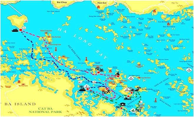 Carte-baie-Halong-Croisiere-Gray-Line-3-jours