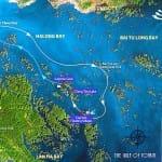 Carte-baie-Halong-Croisiere-Jonque-Bhaya-2jours-1nuit- Baie d'Halong
