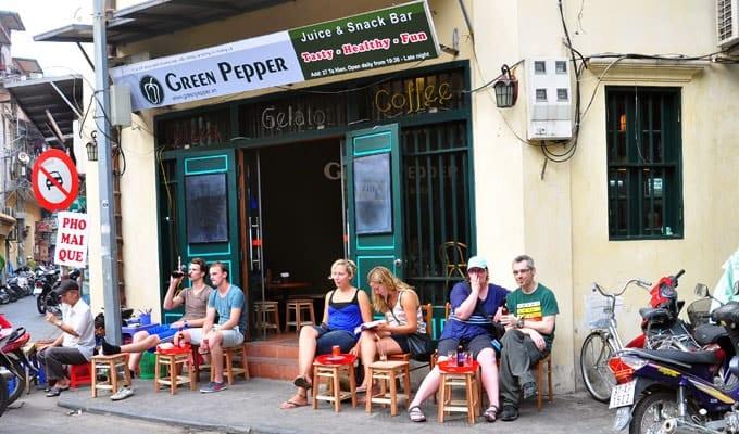 Rue Ta Hien - Vieux quartier de Hanoi
