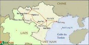Voyages au Vietnam - Carte de voyage - le Nord Vietnam authentique